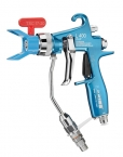 21801 / Mist-less manual gun with mist-clean base L400 for super fast clean nozzle Top spray or clean